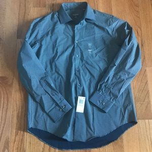 Nwt men's slim fit stretch button up